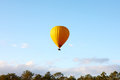 The hot air balloon in the air Royalty Free Stock Image