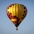 Hot air balloon on blue sky Stock Photo