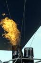 Hot air balloon burner Royalty Free Stock Photo