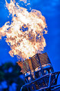 Hot air balloon burner unit Stock Images