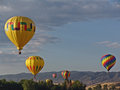 Hot air balloon at chatfield reservoir festival Stock Photos