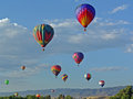 Hot air balloon at chatfield reservoir festival Stock Photography