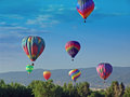 Hot air balloon at chatfield reservoir festival Royalty Free Stock Image