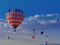 Hot air balloon at chatfield reservoir festival Royalty Free Stock Photo