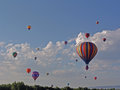 Hot air balloon at chatfield reservoir festival Royalty Free Stock Photography