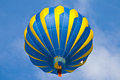Hot air balloon in cloudy sky with blue Royalty Free Stock Photo
