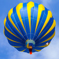 Hot air balloon in cloudy sky with blue Stock Photo