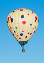 Hot air balloon colorful balloons over blue sky albuquerque festival Stock Image