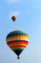 Hot air balloon colorful nice blue sky Royalty Free Stock Image