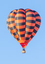 Hot air balloon colorful over blue sky albuquerque festival Royalty Free Stock Photos