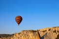 Hot air balloon in early morning Stock Photos