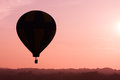 Hot air balloon early morning ride in a Stock Photography