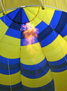 Hot air balloon firing flame burner Stock Photography