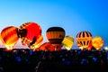 Hot air balloon glow in Ohio