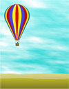 Hot Air Balloon Illustration Stock Photography