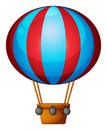A hot air balloon illustration of on white background Stock Photo