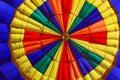 Hot air balloon inside Stock Photo