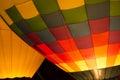 Hot Air Balloon Night Glow Royalty Free Stock Photo