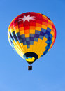 Hot air balloon over blue sky Stock Image