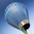 Hot air balloon over blue sky Stock Images