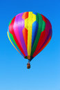 Hot air balloon over blue sky Royalty Free Stock Photos