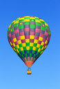 Hot air balloon over blue sky Royalty Free Stock Photography