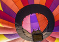 Hot air balloon over blue sky close up Royalty Free Stock Image