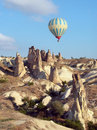 Hot air balloon over Cappadocia, Turkey Stock Image