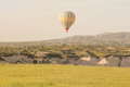 Hot air balloon over cappadocia turkey in the morning Stock Photography