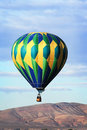 Hot Air Balloon over mountian Royalty Free Stock Photo