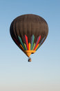 Hot air balloon over north phoenix desert riding in a high the the early morning Stock Images