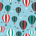Hot air balloon pattern Stock Images