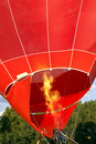 Hot air balloon preparing Royalty Free Stock Photography