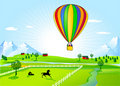 Hot-air balloon ride Royalty Free Stock Photography