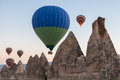 Hot air balloon ride in cappadocia turkey Stock Photography