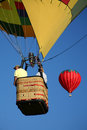 Hot Air Balloon Ride Closeup Royalty Free Stock Photo