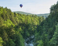 Hot Air Balloon RIde at Quechee Vermont Royalty Free Stock Photo