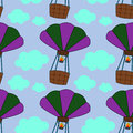 Hot air balloon seamless background design a for graphic element use Royalty Free Stock Images