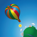 Hot air balloon in the sky Royalty Free Stock Photography