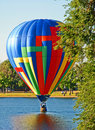 Hot Air Balloon Spalsh Down! Royalty Free Stock Photography