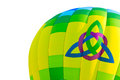 Hot air balloon with trinity heart symbol symbols and isolted on white Royalty Free Stock Photo