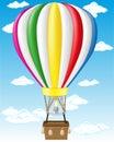Hot air balloon vector illustration Royalty Free Stock Photo