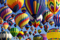 Hot air ballooning composite of balloons at the new jersey festival in whitehouse station new jersey Stock Photos