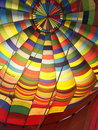Hot air ballooning inside of a balloon Stock Photos