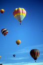 Hot air balloons against blue sky international balloon festival albuquerque new mexico Stock Image