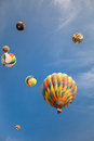 Hot-air Balloons With Blue Sky...