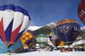 Hot Air Balloons - Chateau-d'Oex 2010 Royalty Free Stock Image