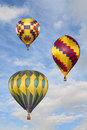 Hot Air Balloons in the Clouds, Stock Image