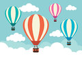 Hot air balloons in the clouds Royalty Free Stock Image
