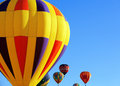 Hot air balloons colorful over blue sky Royalty Free Stock Image